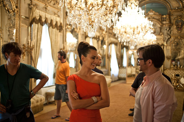 A behind-the-scenes photo of Campari's 2013...