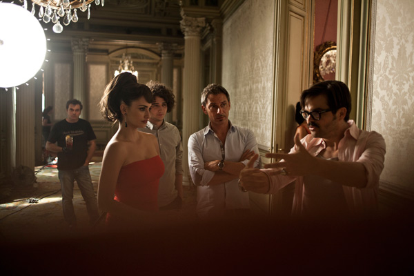 A behind-the-scenes photo of Campari's 2013 Calendar campaign, starring Penelope Cruz. The pictures were released on July 31, 2012.