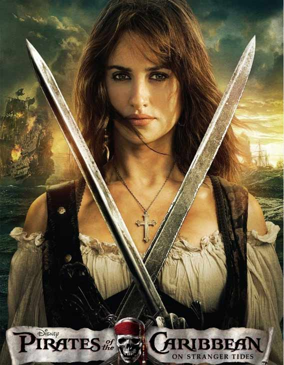 Penelope Cruz appears as Anjelica on a poster for &#39;Pirates of the Caribbean: On Stranger Tides.&#39; <span class=meta>(Peter Mountain &#47; Disney Enterprises)</span>