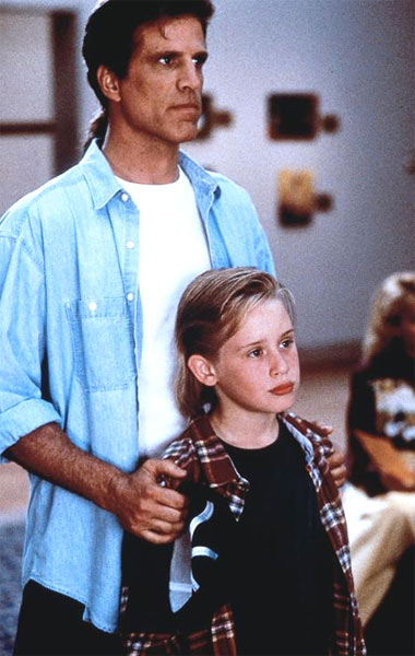 Macaulay Culkin and Ted Danson appear in a scene from the 1994 film 'Getting Even With Dad.'