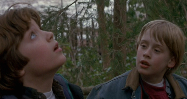 Macaulay Culkin &#40;left&#41; appears with Elijah Wood in a scene from the 1993 film &#39;The Good Son.&#39; Culkin plays a psychotic young boy who stays with his aunt and tries to influence his cousin, played by Wood. <span class=meta>(Twentieth Century Fox Film Corporation)</span>