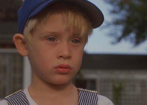 Macaulay Culkin appears in a scene from the 1988 movie 'Robert Gibraltar.'