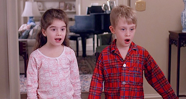 Macaulay Culkin (left) and Gaby Hoffmann appear...