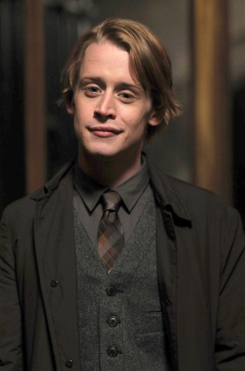 Macaulay Culkin appears in a promotional photo for the NBC series 'Kings,' which was canceled after several episodes after its 2009 debut. The series was set in the present day and was based loosely on the Biblical story of King David.