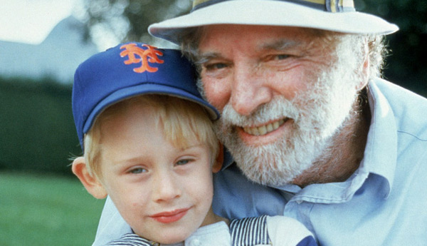Macaulay Culkin and Burt Lancaster appear in a promotional photo for the 1988 movie &#39;Robert Gibraltar.&#39; The film is about an aging patriarch who reunites with his entire family on his birthday and also stars Patricia Clarkson, Sara Rue, Bill Pullman, Kevin Spacey, John Glover and Suzy Amis. Culkin played a boy named Cy Blue Black.This was one of Lancaster&#39;s last on-screen projects. He died in 1994 at age 80. <span class=meta>(Columbia Pictures)</span>