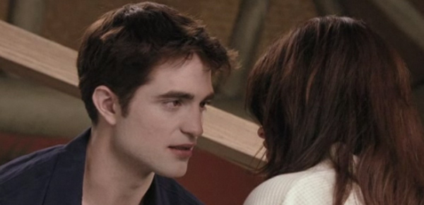 Robert Pattinson appears as Edward Cullen and Kristen Stewart as Bella Swan in a scene from 'The Twilight Saga: Breaking Dawn - Part 1.'