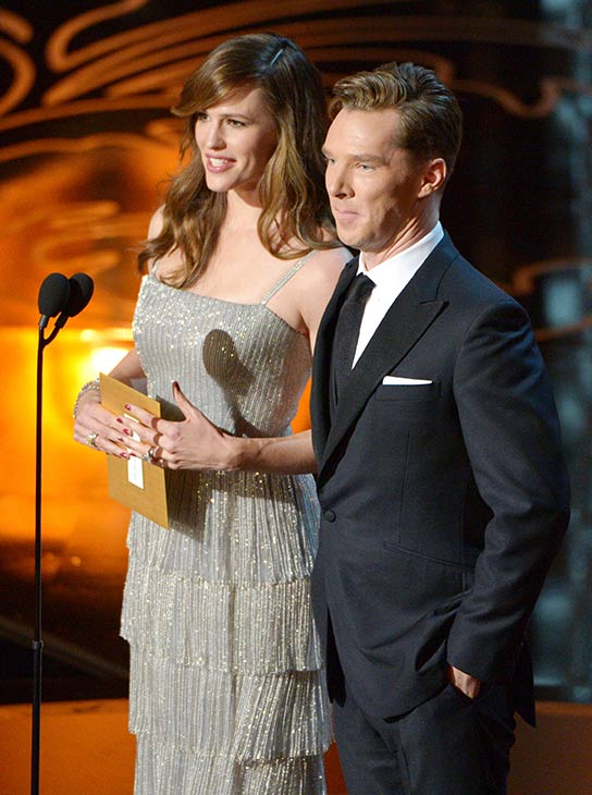"<div class=""meta ""><span class=""caption-text "">Benedict Cumberbatch - He appeared on stage at the 2014 Oscars to present the award for Production Design to 'The Great Gatsby' (with co-presenter Jennifer Garner), but equally as importantly, Benedict Cumberbatch appeared on stage, and we got to look at him. (John Shearer / Invision / AP)</span></div>"