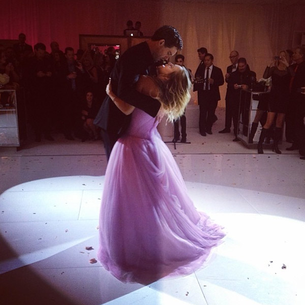 &#39;The Big Bang Theory&#39; actress Kaley Cuoco and Ryan Sweeting, a tennis player, wed on Dec. 31, 2013 - New Year&#39;s Eve. They have been together since summer 2013. She is wearing a pink Vera Wang wedding gown. &#40;More details about their wedding here.&#41;  &#40;Pictured: Kaley Cuoco and Ryan Sweeting appear in a wedding photo posted on the actress&#39; Instagram page.&#41; <span class=meta>(instagram.com&#47;p&#47;ipAji2OWZJ&#47; instagram.com&#47;normancook)</span>