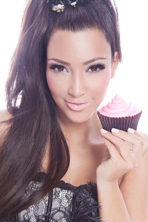 Kim Kardashian has her own &#39;va-va-vanilla&#39; cupcake mix, available at the Famous Cupcakes store in Beverly Hills.  Pictured: Kim Kardashian appears in a photo with her &#34;va-va-vanilla&#34; cupcake from the Famous Cupcakes web site. <span class=meta>(facebook.com&#47;pages&#47;Famous-Cupcakes)</span>