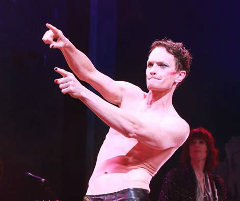 Neil Patrick Harris appears on stage during opening night of the rock musical &#39;Hedwig and the Angry Itch&#39; on Broadway in New York on April 22, 2014. The &#39;How I Met Your Mother&#39; and &#39;Doogie Howser&#39; alum plays a transgender East German rocker in the show, which is set during the Cold War. Hedwig lives in a trailer park in Kansas and is the singer of a band called the Angry Itch. She longs to be reunited with her lover, Tommy. <span class=meta>(Adam Nemser &#47; Startraksphoto.com)</span>