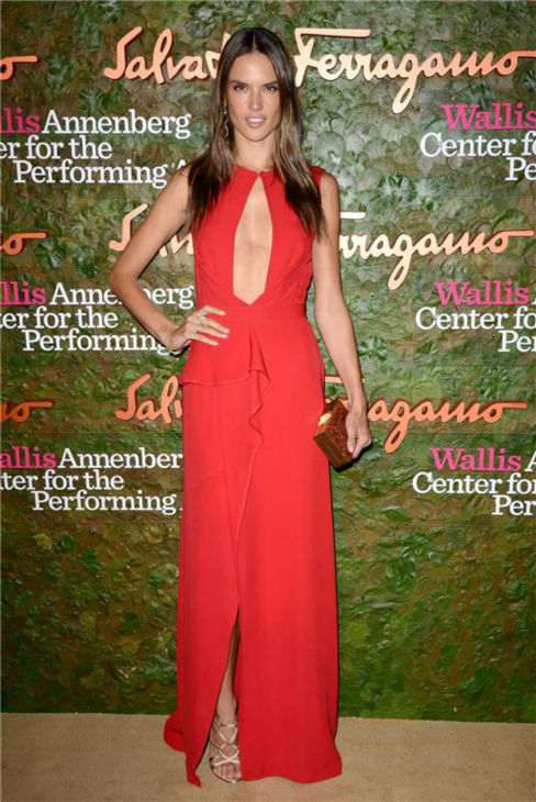 &#39;Victoria&#39;s Secret&#39; model Alessandra Ambrosio attends the Wallis Annenberg Center for the Performing Arts Inaugural Gala, presented by Salvatore Ferragamo, at the Wallis Annenberg Center in Beverly Hills on Oct. 17, 2013. <span class=meta>(Lionel Hahn &#47; AbacaUSA &#47; Startraksphoto.com)</span>
