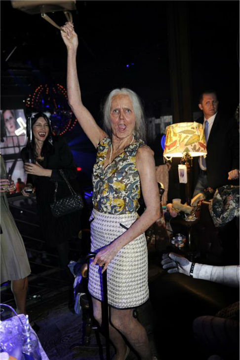 "<div class=""meta ""><span class=""caption-text "">Heidi Klum, dressed in an elderly woman costume, is seen at her 14th annual Halloween party, held at the Marquee nightclub in New York on Oct. 31, 2013. (Seth Browarnik / Startraksphoto.com)</span></div>"