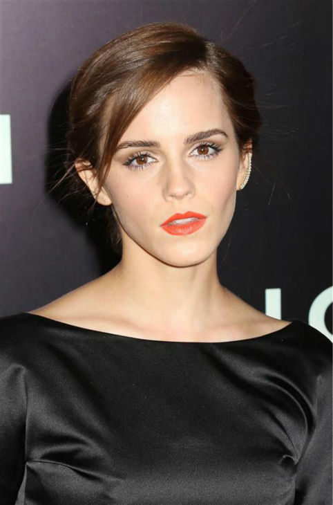 Emma Watson appears at the premiere of &#39;Noah&#39; in New York on March 26, 2014. The actress, who is wearing a black, satin Oscar de la Renta Fall 2014 gown, plays Ila, the wife of Noah&#39;s eldest son, Shem, in Darren Aronofsky&#39;s movie. <span class=meta>(Abaca &#47; Startraksphoto.com)</span>