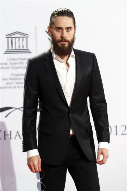 The &#39;Really-Scruffy-Look&#39; stare: Jared Leto appears at the 2012 UNESCO Charity Gala at the Maritim Hotel in Duesseldorf, Germany on Oct. 27, 2012. <span class=meta>(Guido Ohlenbostel &#47; Startraksphoto.com)</span>