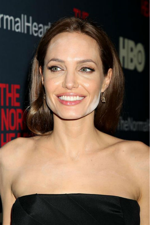 Angelina Jolie appears at the premiere of the HBO film &#39;The Normal Heart&#39; in New York on May 12, 2014. <span class=meta>(Dave Allocca &#47; Startraksphoto.com)</span>