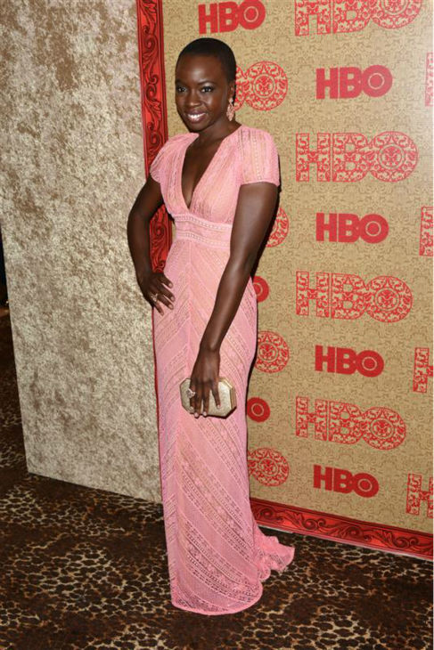 Danai Gurira &#40;Michonne on AMC&#39;s &#39;The Walking Dead&#39;&#41; appears at HBO&#39;s 2014 Golden Globe Awards after party at the Circa 55 restaurant in Beverly Hills, California on Jan. 12, 2014. <span class=meta>(Tony DiMaio &#47; Startraksphoto.com)</span>
