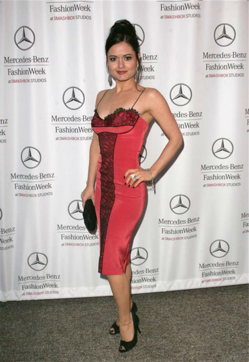 Danica McKellar &#40;&#39;The Wonder Years&#39; Winnie Cooper&#41;, appears at Mercedes-Benz Fashion Week at Smashbox Studios in Culver City, California on March 18, 2007.  <span class=meta>(Andy Fossum &#47; Startraksphoto.com)</span>
