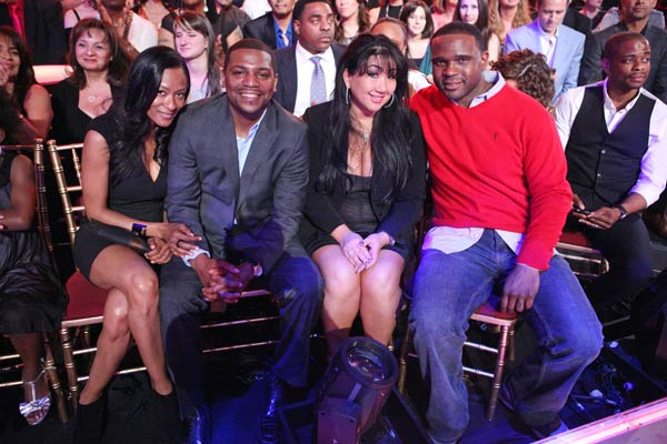 Mekhi Phifer, Duel Hill and Darius McCrary (middle), Jaleel White's former 'Family Matters' co-star, appear on week five of 'Dancing With The Stars,' which aired on April 16, 2012.