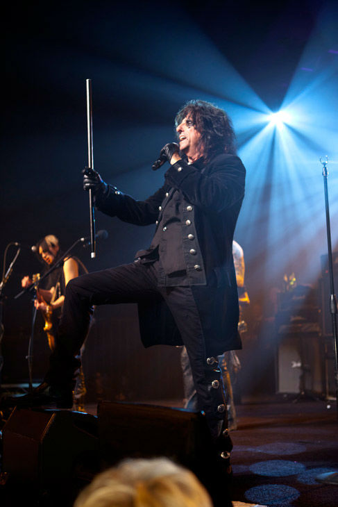Alice Cooper appears in concert at the premiere...