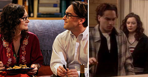 Johnny Galecki appears with Sara Gilbert in scenes from 'Roseanne' and 'The Big Bang Theory.'