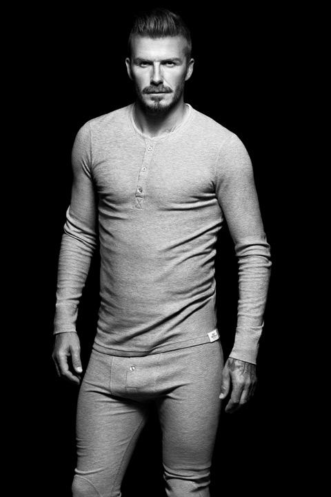 David Beckham appears in an ad from his 2012 branded bodywear collection that's featured at H&M.
