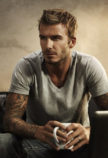 David Beckham in a professional still from his...