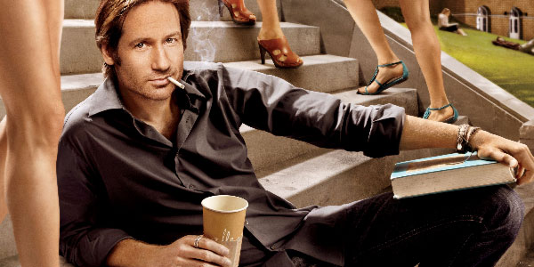 David Duchovny turns 52 on Aug. 7, 2012. The actor is known for his roles as Special Agent Fox Mulder on the television show &#39;The X-Files&#39; and as Hank Moody on Showtime&#39;s &#39;Californication.&#39;&#40;Pictured: David Duchovny appears in a scene from the show &#39;Californication.&#39;&#41; <span class=meta>(Aggressive Mediocrity)</span>