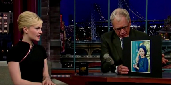 Anna Paquin appears on the 'Late Show with David...