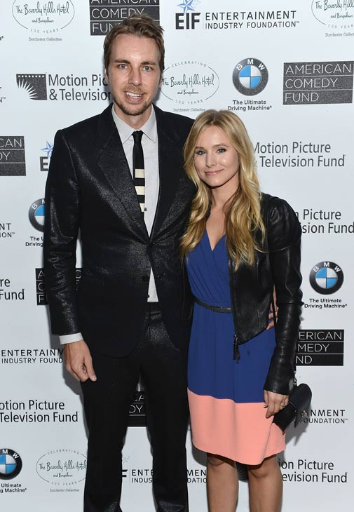 "<div class=""meta ""><span class=""caption-text "">Kristen Bell and boyfriend Dax Shepard attend Bill Cosby's Evening of Comedy and Jazz, held as part of a weekend celebration to mark the 100th Anniversary of The Beverly Hills Hotel and Bungalows, on Friday, June 15, 2012. (Slate PR)</span></div>"