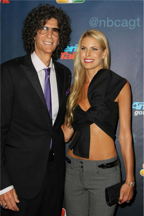 &#39;America&#39;s Got Talent&#39; co-judge Howard Stern and wife Beth Ostrosky Stern pose on the red carpet after the season 8 finale at Radio City Music Hall in New York on Sept. 18, 2013. <span class=meta>(Amanda Schwab &#47; Startraksphoto.com)</span>