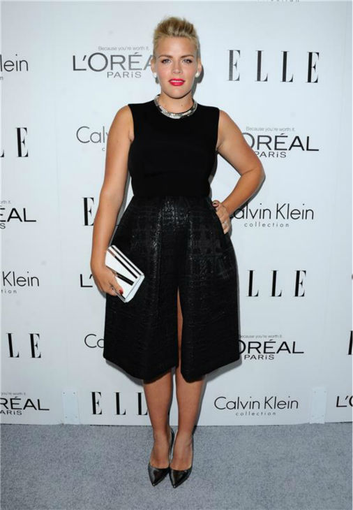 Busy Philipps of 'Cougar Town' attends ELLE's 20th Annual Women In Hollywood gala in Beverly Hills, California on Oct. 21, 2013.