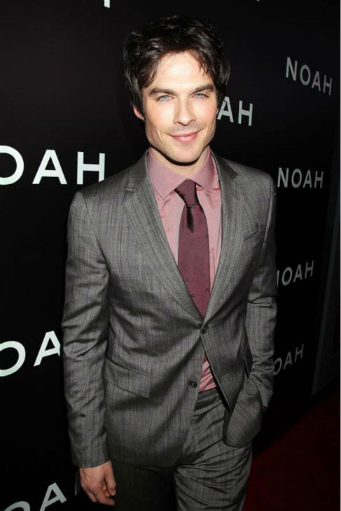 Ian Somerhalder of the CW series &#39;The Vampire Diaries&#39; appears at the premiere of &#39;Noah&#39; in New York on March 26, 2014. He does not appear in the movie, which was directed by Darren Aronofsky. <span class=meta>(Dave Allocca &#47; Startraksphoto.com)</span>