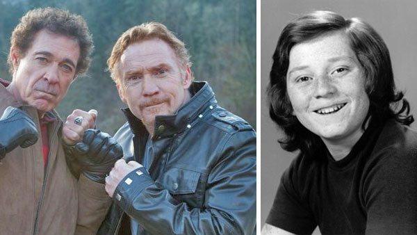 Danny Bonaduce and Barry Williams (left) appear in a promotional photo for the 2012 SyFy movie 'Bigfoot.' / Danny Bonaduce appears in a publicity photo for 'The Patridge Family' in 1972.