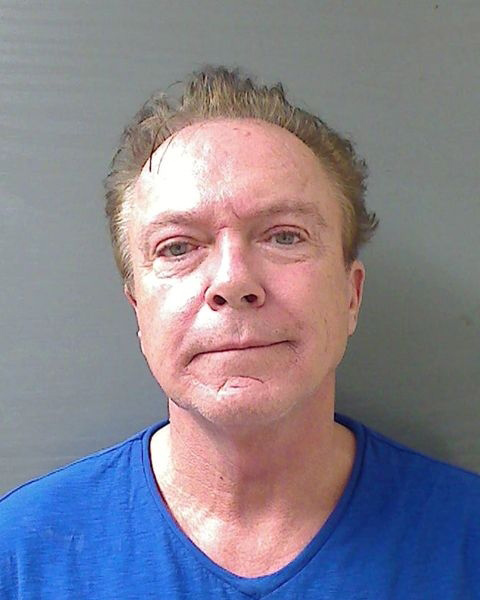 David Cassidy, 63, is seen in a mug shot taken following a DWI arrest in the town of Schodack, New York on Aug. 20, 2013. - Provided courtesy of Schodack Police Department