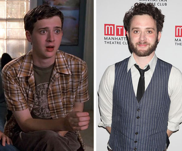 Eddie Kaye Thomas appears in a scene from 'American Pie' in 1999. / Eddie Kaye Thomas appears at the opening night party celebrating the off-Broadway play 'Golden Age' in New York on Dec. 4, 2012.