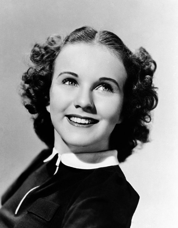 Singer and film actress Deanna Durbin in 1937.