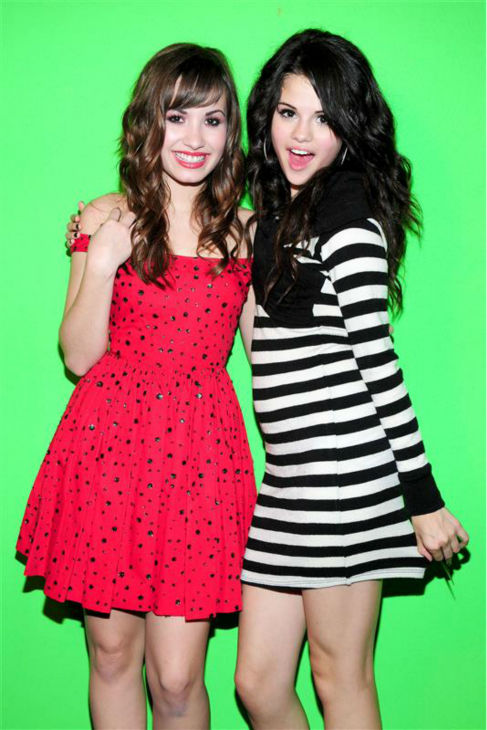 Demi Lovato appears with Selena Gomez at Selena&#39;s 16th birthday party in Los Angeles on July 22, 2008. <span class=meta>(Albert Michael &#47; Startraksphoto.com)</span>