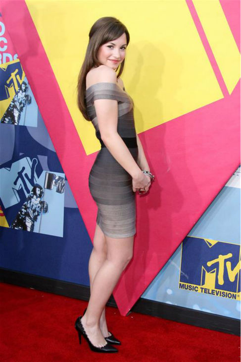 "<div class=""meta ""><span class=""caption-text "">Demi Lovato appears at the 2008 MTV Video Music Awards in Los Angeles on Sept. 7, 2008. (Jen Lowery / Startraksphoto.com)</span></div>"