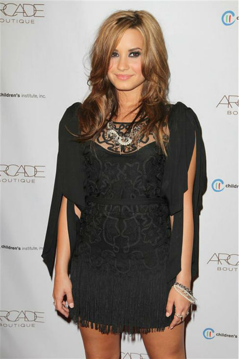 "<div class=""meta ""><span class=""caption-text "">Demi Lovato appears at the ARCADE Boutique Autumn Party, benefiting the Children's Institute, in Los Angeles on Sept. 29, 2010. (Norman Scott / Startraksphoto.com)</span></div>"
