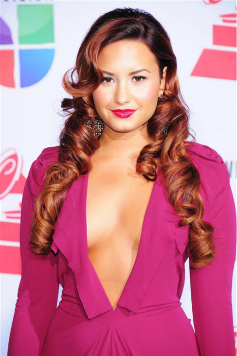 Demi Lovato appears at the 2011 Latin Grammy Awards at the Mandalay Bay Resort and Casino in Las Vegas on Nov. 10, 2011. <span class=meta>(Dave Proctor &#47; Startraksphoto.com)</span>