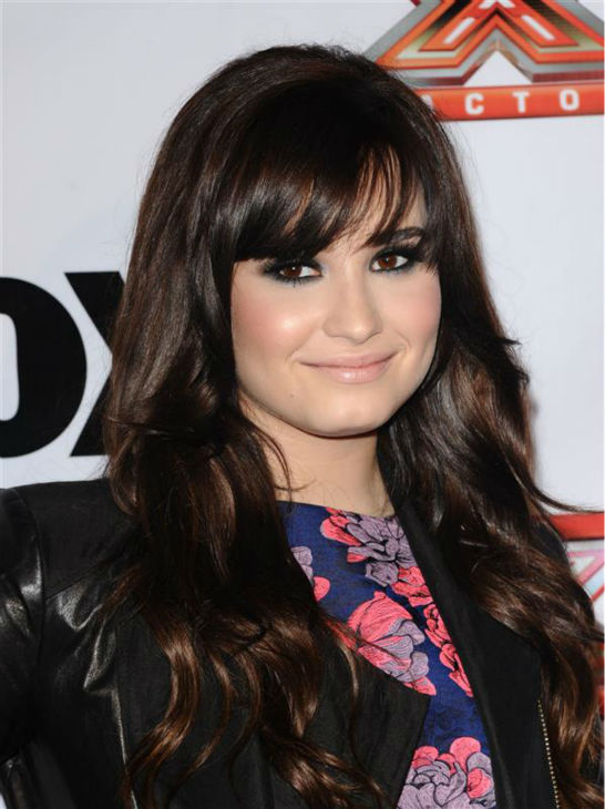 "<div class=""meta ""><span class=""caption-text "">Demi Lovato appears at a viewing party for season 2 of the FOX show 'The X Factor,' in which she searves as a judge and mentor, in Los Angeles on Dec. 6, 2012. (Sara De Boer / Startraksphoto.com)</span></div>"