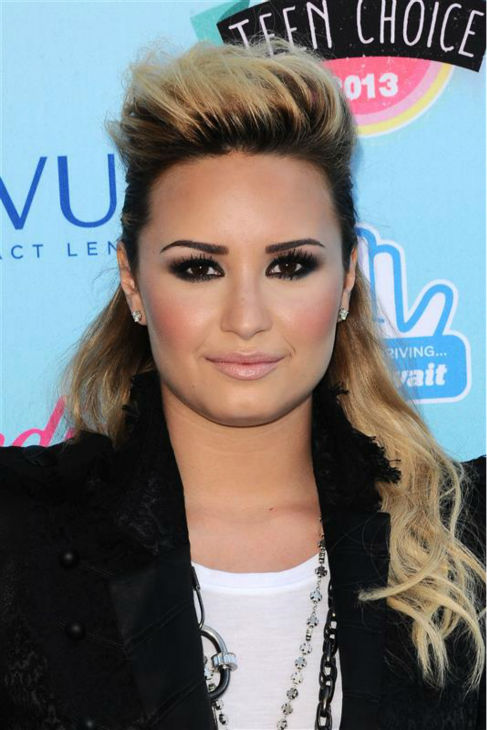 Demi Lovato appears at the Teen Choice Awards at the Gibson Amphitheater in Universal City, California on Aug. 11, 2013. <span class=meta>(Kyle Rover &#47; Startraksphoto.com)</span>