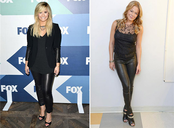 The X Factor judge and pop star Demi Lovato attends the FOX Summer TCA All-Star Party in West Hollywood, California on Aug. 1, 2013. / LeAnn Rimes poses for a publicity photo shoot on Aug. 1, 2013. - Provided courtesy of Tony DiMaio / Michael Simon / startraksphoto.com