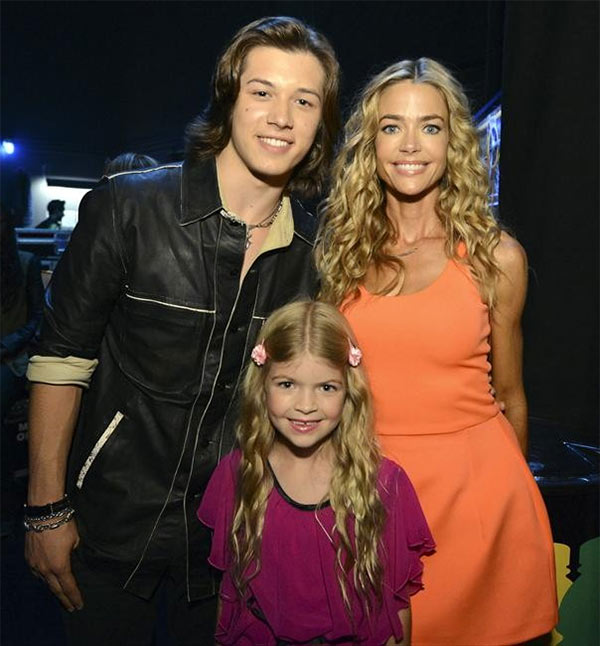 Denise Richards, daughter Lola, 7, and actor Leo Howard attend the 2013 Radio Disney Music Awards at the Nokia Theatre L.A. Live on April 27, 2013. The event will air on the Disney Channel and on Radio Disney on May 4. Richards guest starred on the Disney Channel show &#39;Kickin&#39; It&#39; in 2012. <span class=meta>(Disney Channel &#47; Richard Harbaugh)</span>