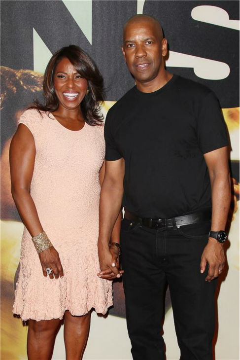 Denzel Washington and his wife Pauletta Washington attend the premiere of the film &#39;2 Guns&#39; at the SVA Theatre in New York on July 29, 2013. <span class=meta>(Kristina Bumphrey &#47; Startraksphoto.com)</span>