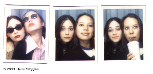 Zooey Deschanel appears in a photo from her official website that she posted on July 8, 2011.Deschanel appears in the photo with Sarah Bates, who she says in the post is her &#39;BFF.&#39; <span class=meta>(hellogiggles.com&#47;)</span>