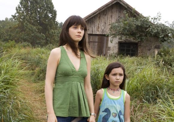 Zooey Deschanel appears in a photo from the 2008 M. Night Shyamalan film 'The Happening.'