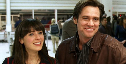 Zooey Deschanel appears in a photo from the 2008 film 'Yes Man.'