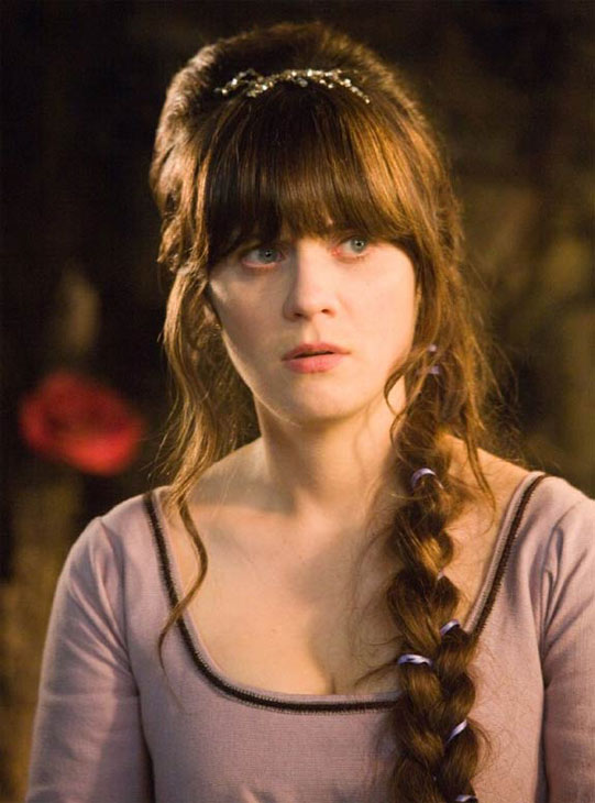 Zooey Deschanel appears in a photo from the 2011 film &#39;Your Highness.&#39;Deschanel played the character Belladonna, and starred alongside Danny McBride, James Franco and Oscar winner Natalie Portman. <span class=meta>(Universal Pictures &#47; Stuber Productions)</span>