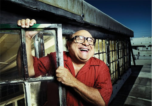 Danny DeVito appears in a promotional phtot from 'It's Always Sunny in Philadelphia.'